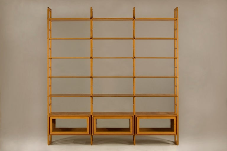 Contemporary Bookcase Made of Cherrywood For Sale