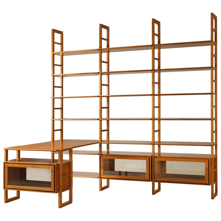 Bookcase Made of Cherrywood For Sale