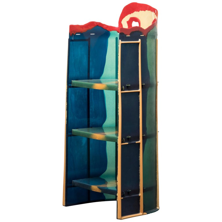 Bookcase Nobody's Shelves Short Body by Gaetano Pesce For Sale