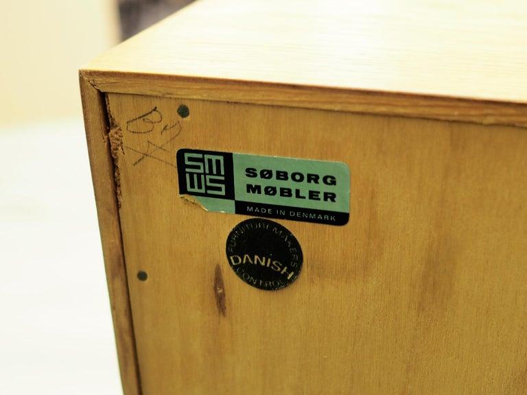 Bookcase Oak, Danish Design, 1960s, Producer Søborg, Designer Mogensen For Sale 5