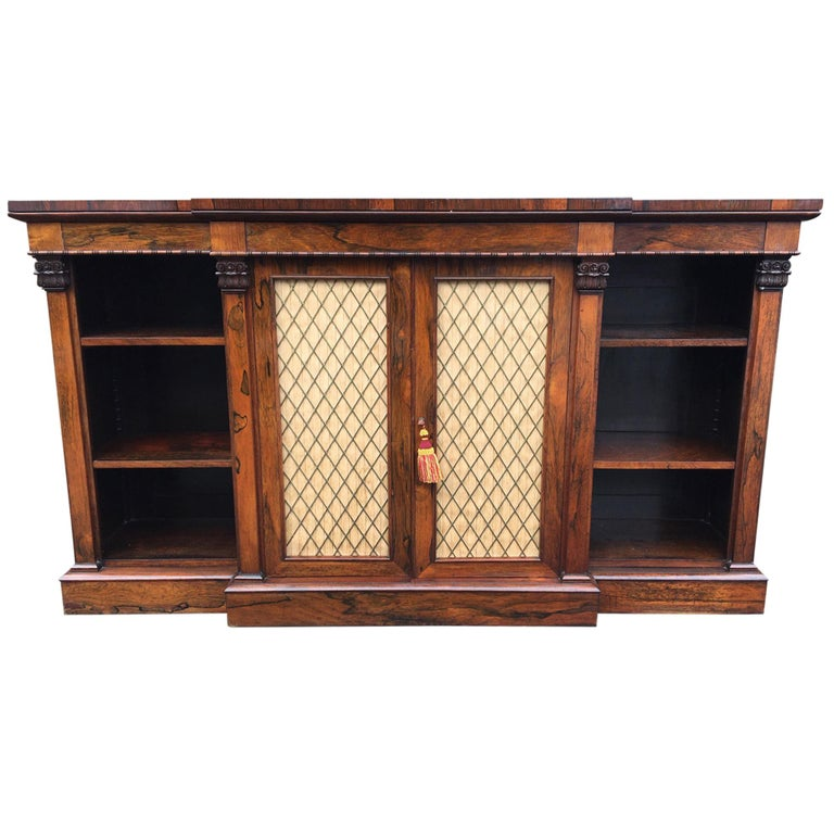 Bookcase Regency, English, Rosewood, Early 19th Century For Sale