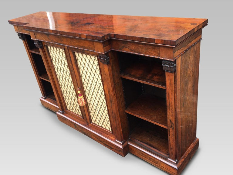 Bookcase Regency, English, Rosewood, Early 19th Century For Sale 1