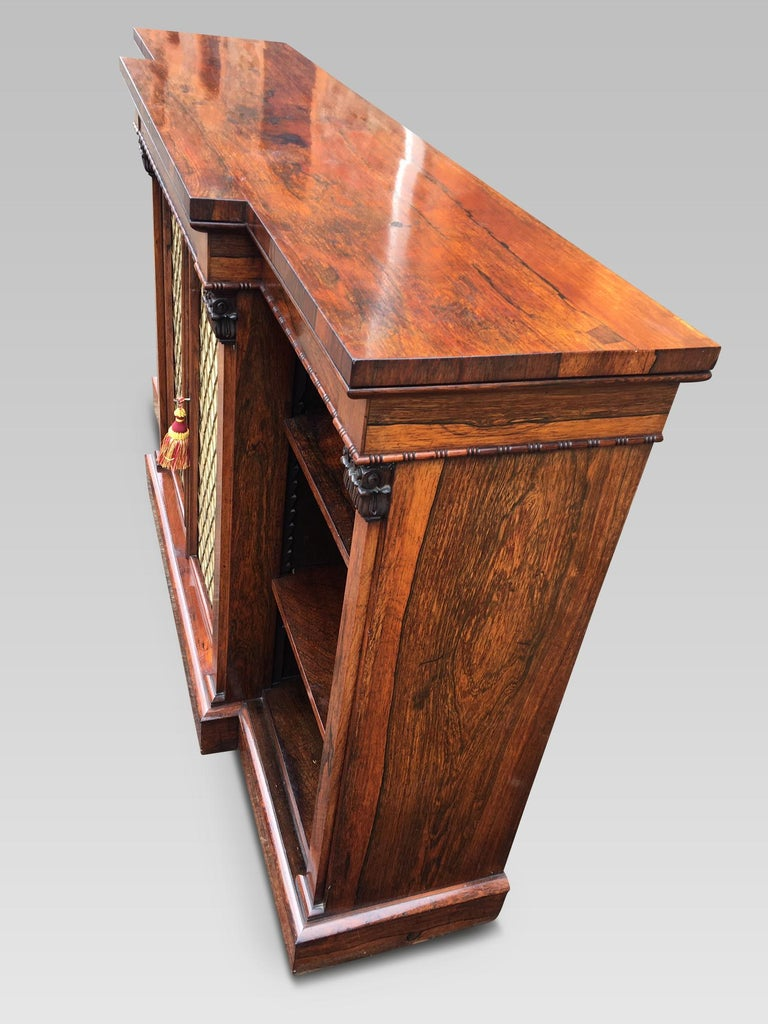 Bookcase Regency, English, Rosewood, Early 19th Century For Sale 3