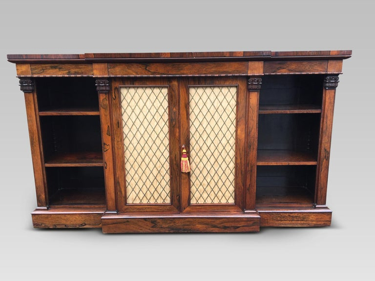 Bookcase Regency, English, Rosewood, Early 19th Century For Sale 4