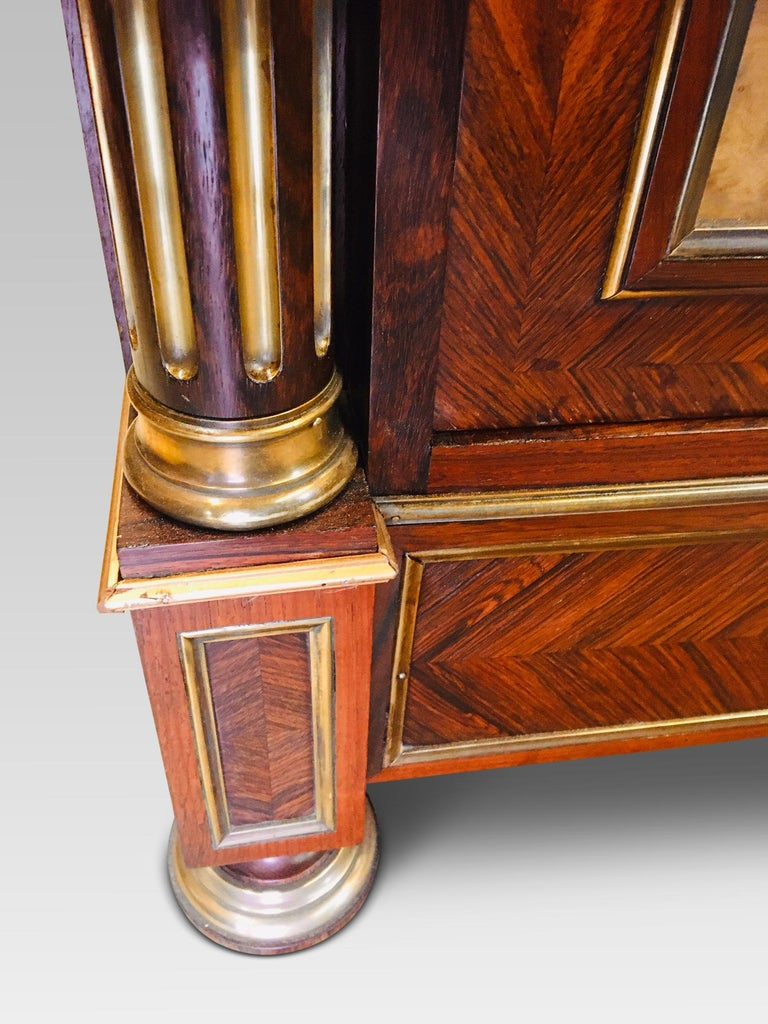 19th Century Bookcase, Rosewood Bookcase, French, circa 1880 For Sale