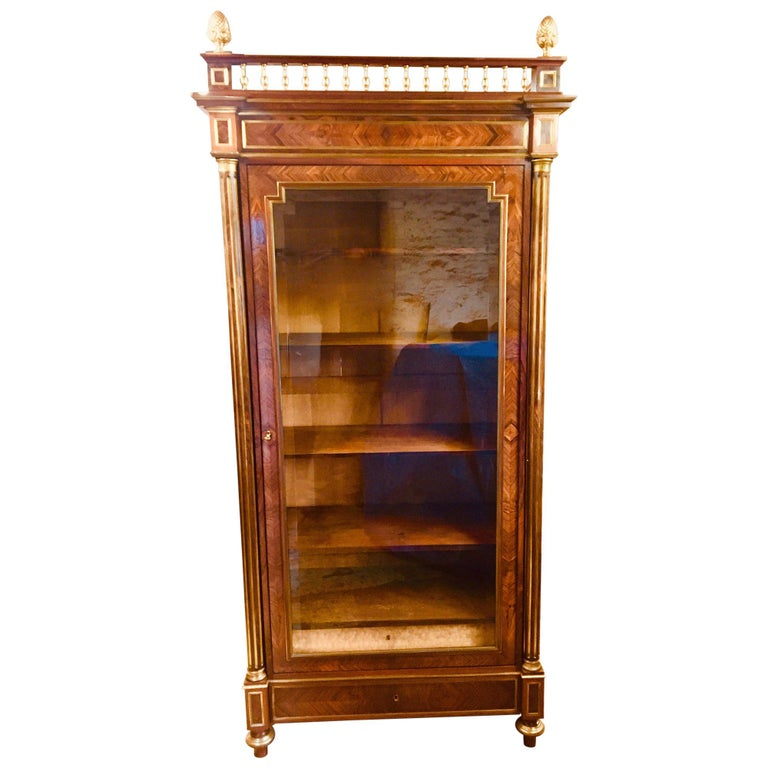 Bookcase, Rosewood Bookcase, French, circa 1880 For Sale