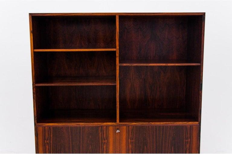 Scandinavian Modern Bookcase, Rosewood, Danish Design, 1960s For Sale