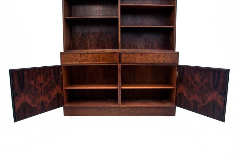 Bookcase, Rosewood, Danish Design, 1960s In Good Condition For Sale In Chorzów, PL
