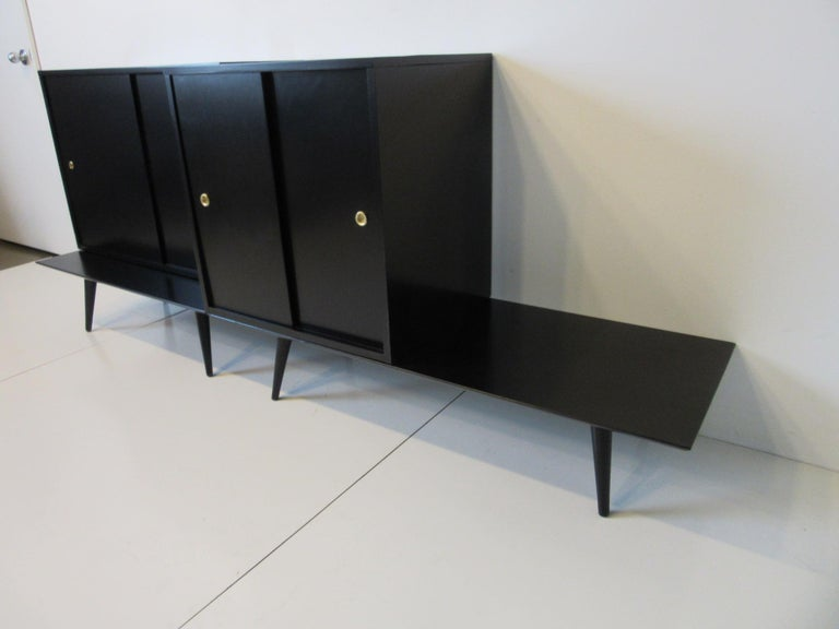 Mid-Century Modern Bookcase/Storage Cabinet Set by Paul McCobb   For Sale