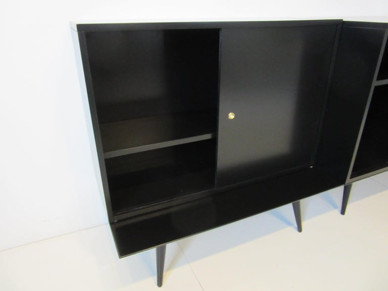 American Bookcase/Storage Cabinet Set by Paul McCobb   For Sale
