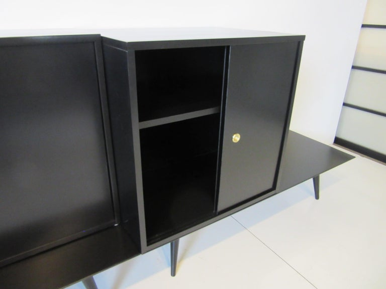 Bookcase/Storage Cabinet Set by Paul McCobb   In Good Condition For Sale In Cincinnati, OH