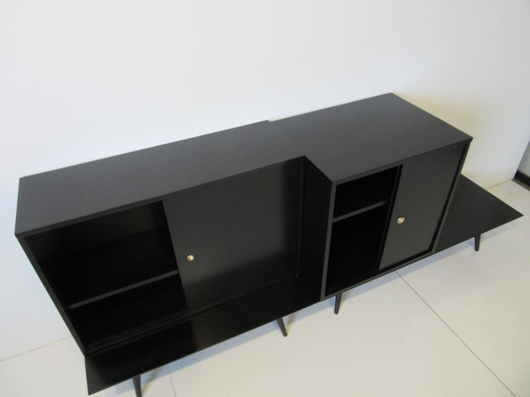 20th Century Bookcase/Storage Cabinet Set by Paul McCobb   For Sale