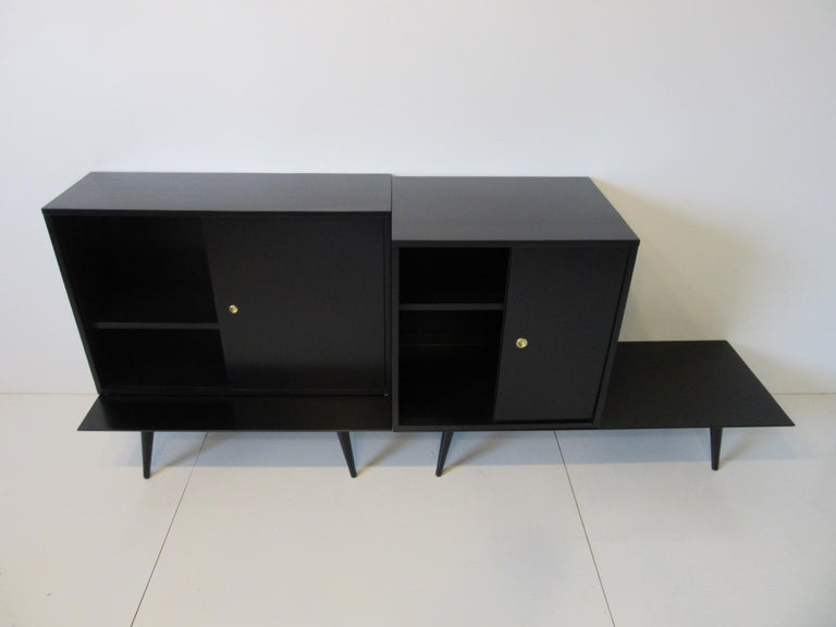 Wood Bookcase/Storage Cabinet Set by Paul McCobb   For Sale