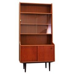 Bookcase Teak Scandinavian Design, 1960s-1970s