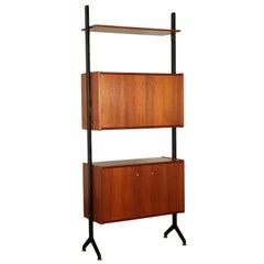 Bookcase, Teak Veneer, Italy 1950s-1960s