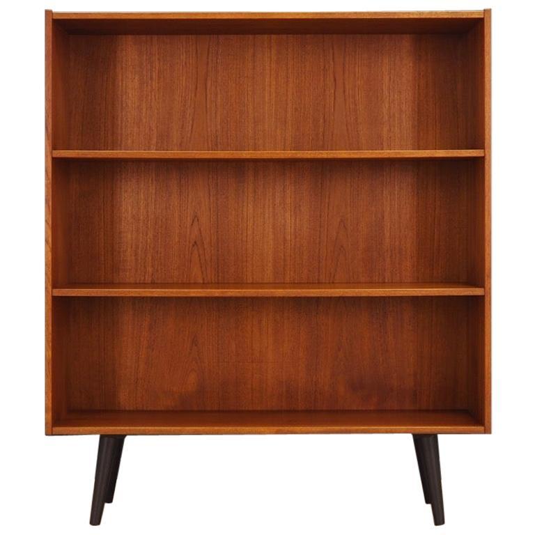 Bookcase Teak Vintage Danish Design, 1960s-1970