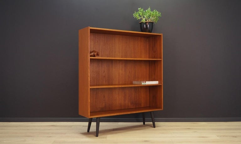 Scandinavian Modern Bookcase Teak Vintage Danish Design, 1960s-1970