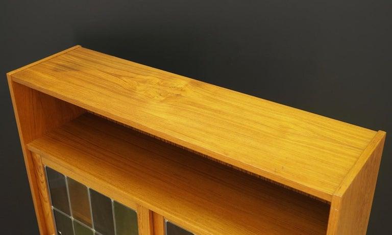 Bookcase Teak Vintage Danish Design In Good Condition For Sale In Okunica, Zachodniopomorskie