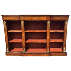 Bookcase, Walnut and Marquetry, English, circa 1880