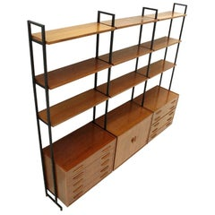 Bookcase with 2 Drawers and Shelves, 1960s
