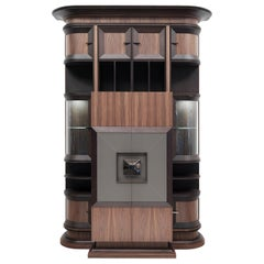 Bookcase with Bar Cabinet