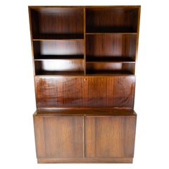Bookcase with Cabinets in Rosewood, Model No. 9, Designed by Omann Junior