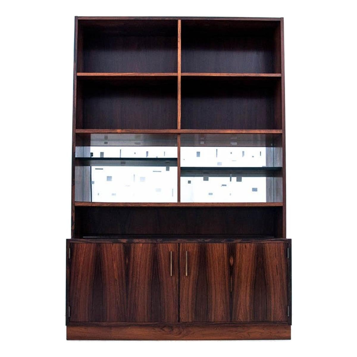 Bookcase with Mirrored Back, Rosewood, Danish Design, 1960s