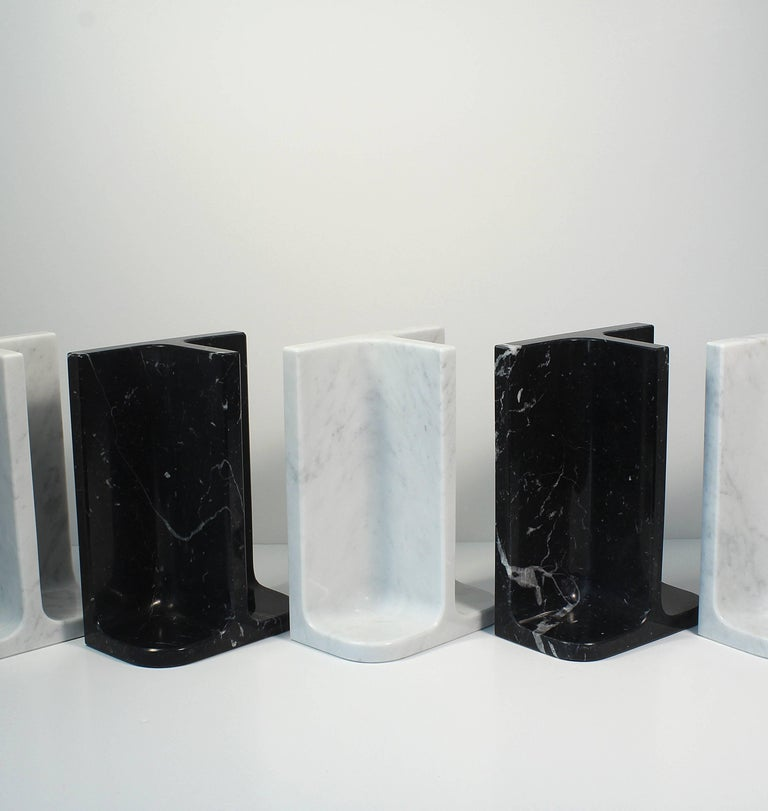 Bookends Charles & Elie in Marquina Marble In New Condition For Sale In Toulouse, FR