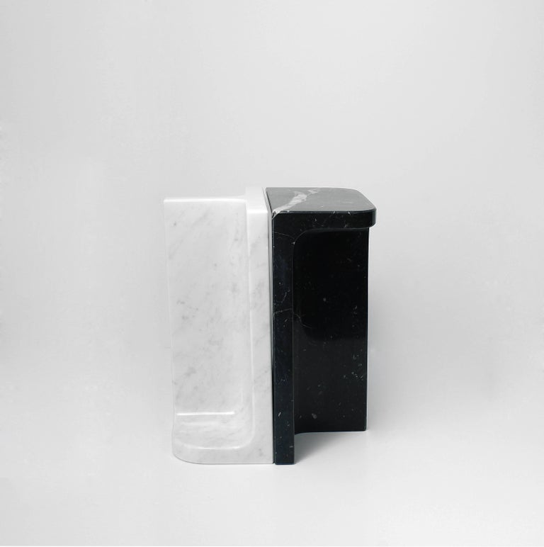 Contemporary Bookends Charles & Elie in Marquina Marble For Sale
