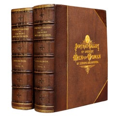 'Books' 2 Volumes, E.A.Duycinck, Portrait Gallery Of Eminent Men & Women