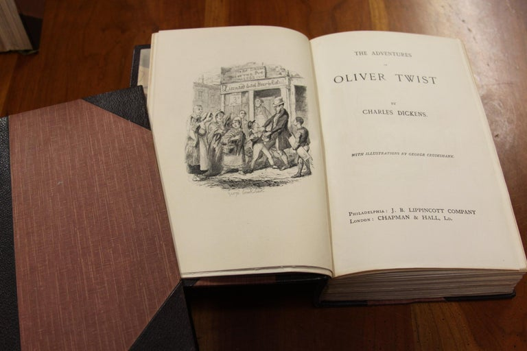 Books.  Charles Dickens Complete Writings, Leather-Bound Antique Collection Set. For Sale 5