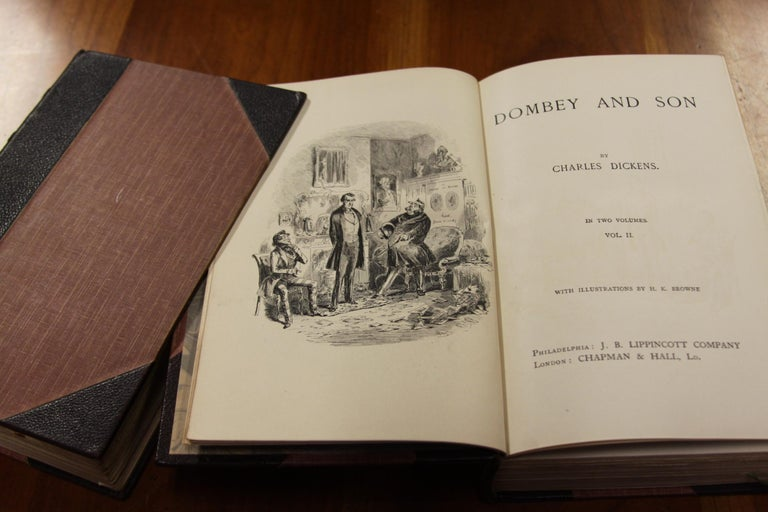 Books, Charles Dickens Complete Writings, Leather-Bound Antique Collection Set For Sale 6