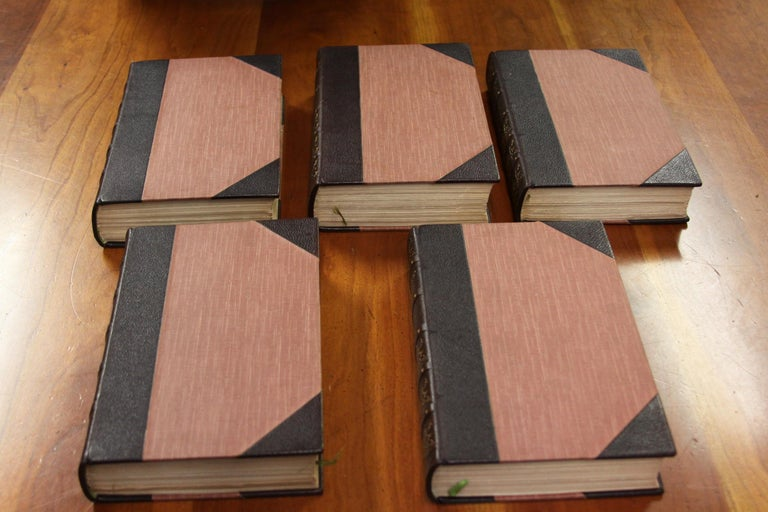 19th Century Books, Charles Dickens Complete Writings, Leather-Bound Antique Collection Set For Sale