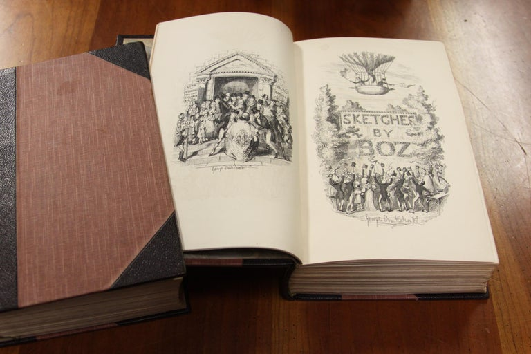 Books, Charles Dickens Complete Writings, Leather-Bound Antique Collection Set For Sale 3