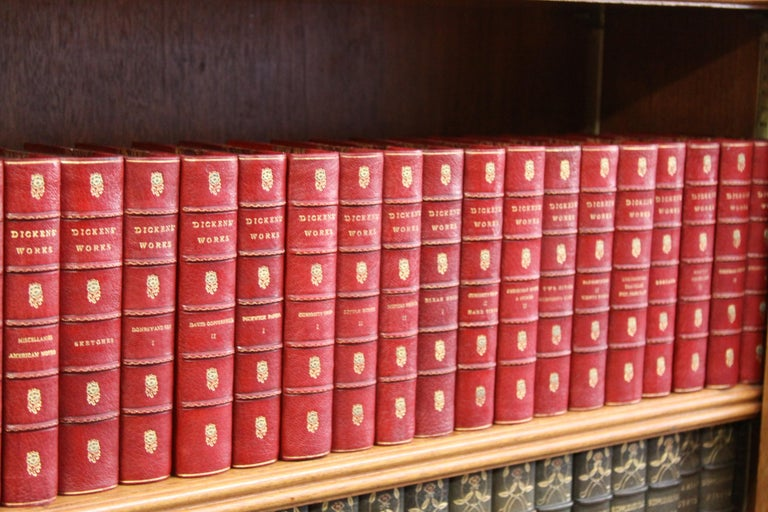 Thirty volumes. The Works of Charles Dickens. Published: Boston Dana Estes and Company, 1908.