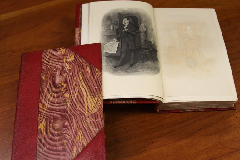 Books. Leather Bound  Antiques Collection. The Writings of Charles Dickens For Sale 1
