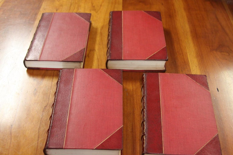 Books. Collection Leather Bound Antiques Books.  The Novels of the Bronte Sister For Sale 5
