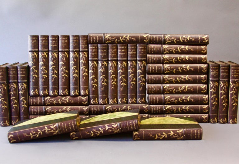 Books Complete Writings of Washington Irving, Collections In Good Condition For Sale In New York, NY