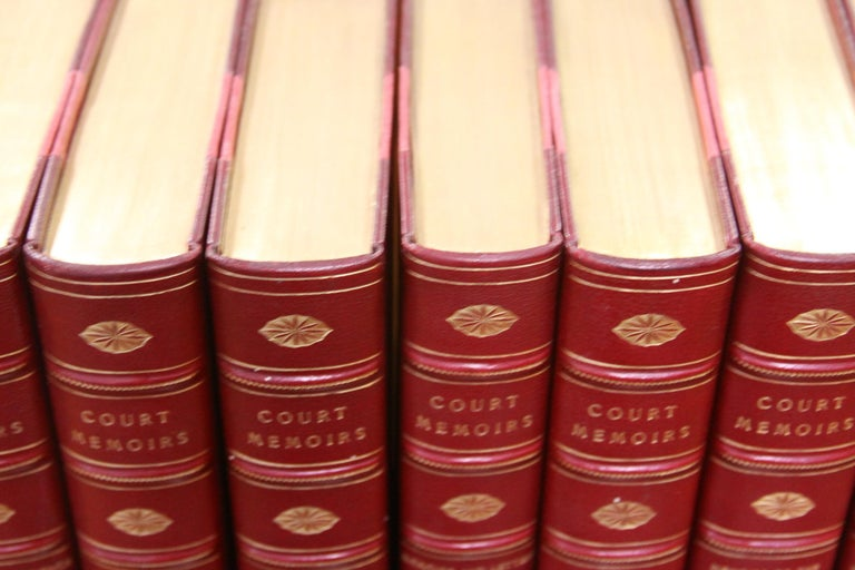 Collections of Leather bound Antiques  Books , The Royal Court Memoirs   In Excellent Condition For Sale In New York, NY