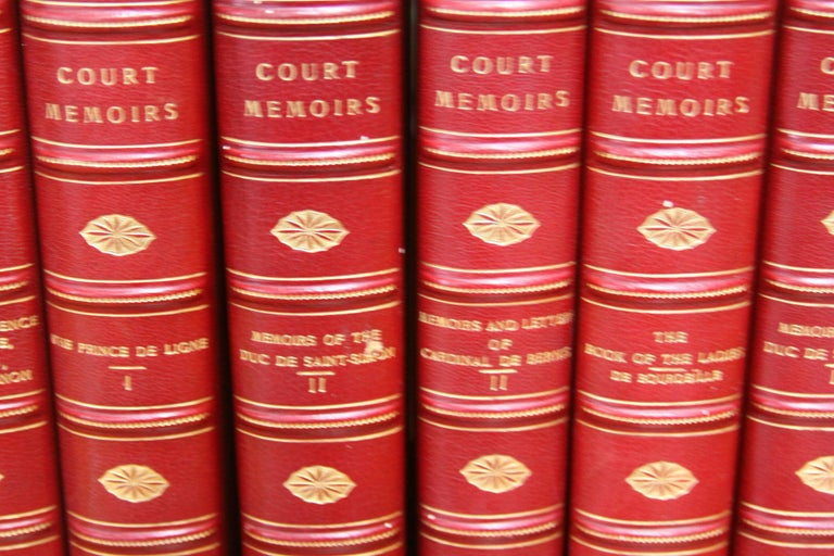 20th Century Collections of Leather bound Antiques  Books , The Royal Court Memoirs   For Sale