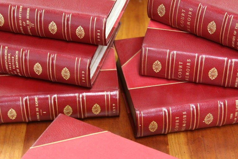 Collections of Leather bound Antiques  Books , The Royal Court Memoirs   For Sale 5