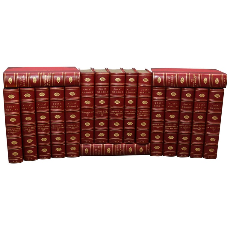 Collections of Leather bound Antiques  Books , The Royal Court Memoirs   For Sale