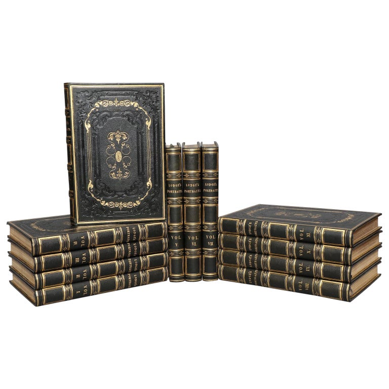 """Books, Edmund Lodge's """"Portraits of Illustrious Personages of Great Britain"""" For Sale"""