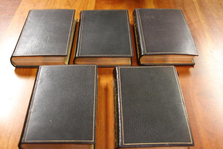 20th Century Collections of Leather bound Antiques  Books , Historic Memoirs of the Europe  For Sale