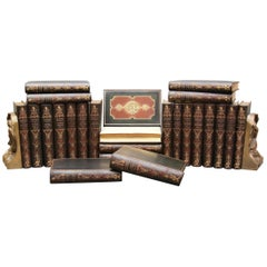 Collections of Leather bound Antiques  Books , Historic Memoirs of the Europe