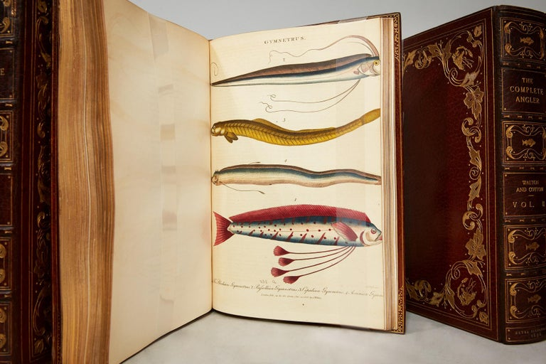 4 volumes. Quartos. Special copy; Extra-illustrated! With original memoirs and notes by Sir Harris Nicolas. Bound in full brown Morocco with silk doublunes. By Baynton, all edges gilt with raised bands and ornate gilt tooling on covers and spines.