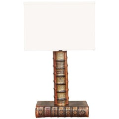 Books Table Lamp with Custom Shade from Early 20th Century England