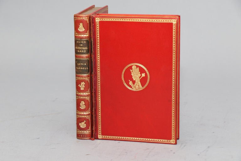 Nice Early Edition. Leatherbound. Two volumes. Bound in full red polished calf by Sangorski & Sutcliffe; original covers bound in the rear with one cover neatly rehinged. With all edges gilt, raised bands, & gilt spines. In a slipcase. Illustrated