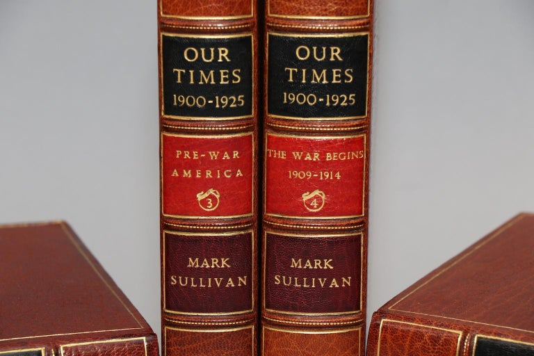 First Edition. Leatherbound. Six volumes.Octavo. Bound in full brown morocco by Bayntun Binders, all edges gilt, raised bands, & gilt panels. Titles included: