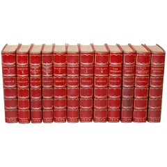Books. Collection Leather Bound Antiques Books.  The Novels of the Bronte Sister